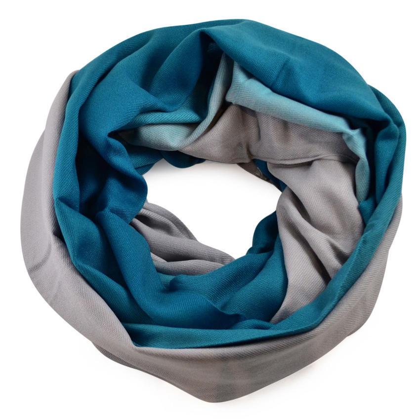 Tunelová kašmírová šála 69tz002-30.71 - modrošedé ombre - Bijoux Me! 96d6a7b94f
