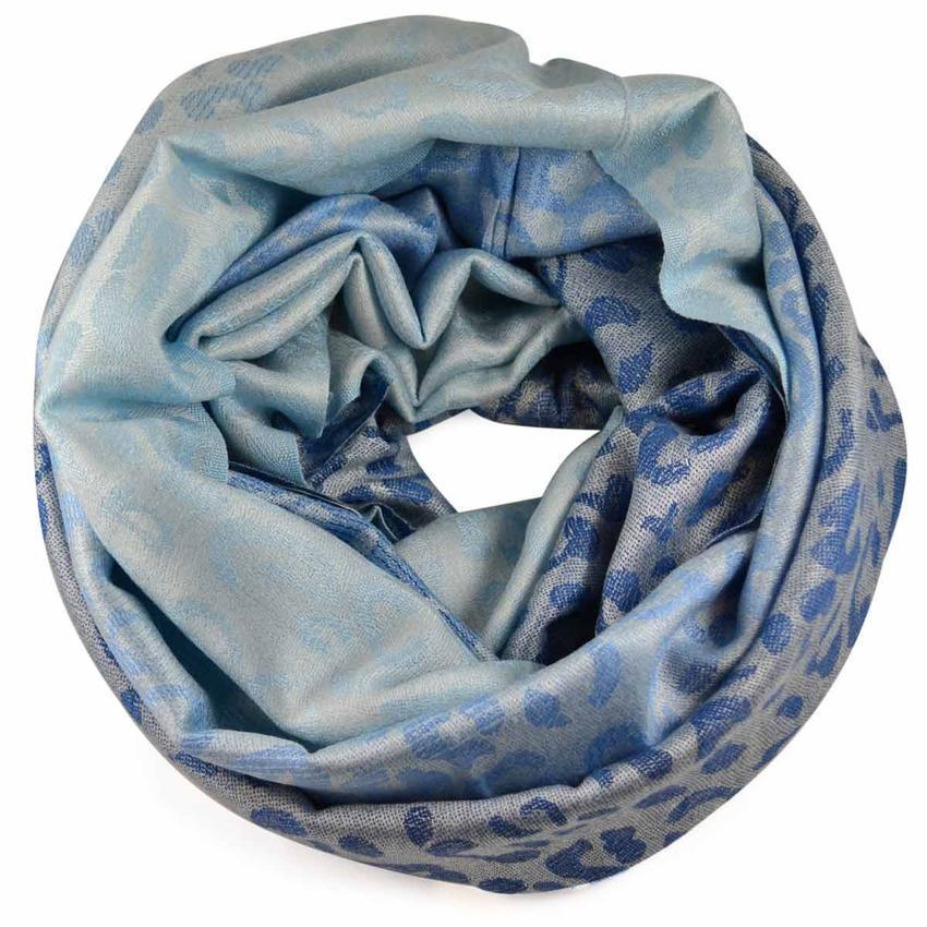 Tunelová kašmírová šála 69tz007-31.30 - modrá - Bijoux Me! aa43963fb1