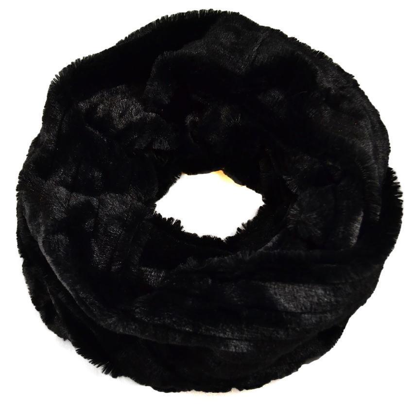 Tunelová kožešinová šála - černá - Bijoux Me! 982c1d93be