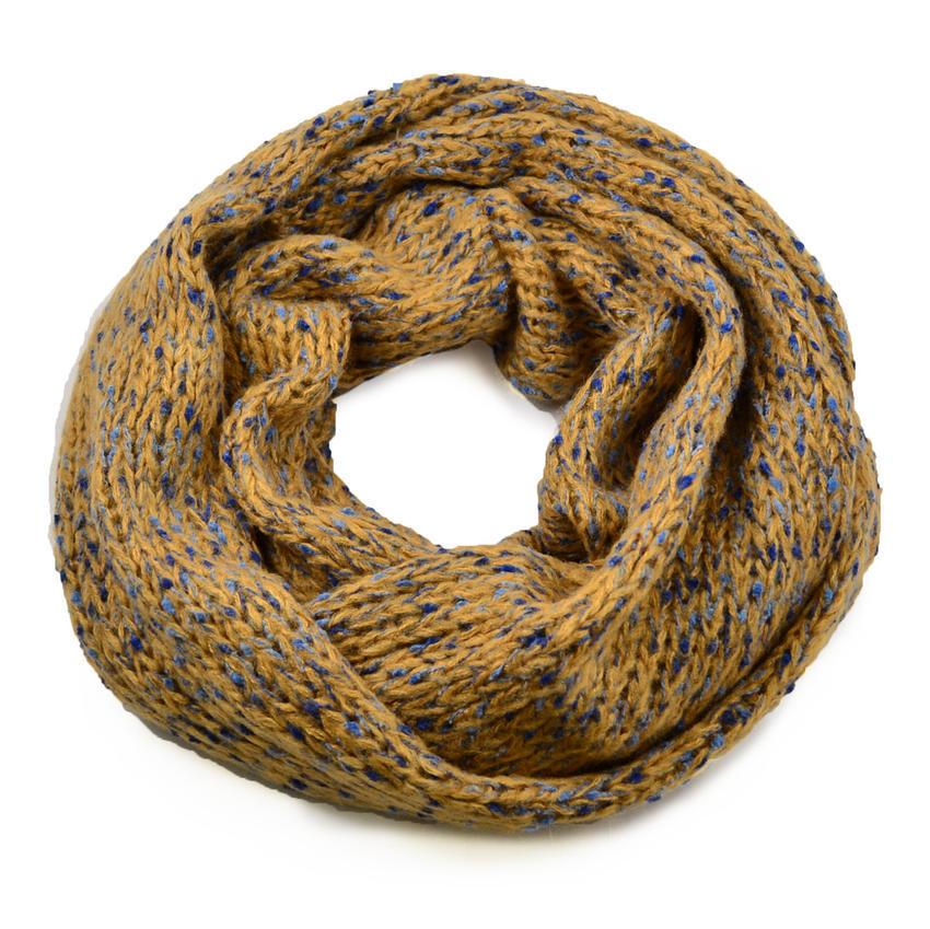 Tunelová pletená šála 69tz001-40a - hnědá